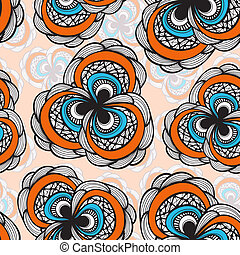 vector seamless abstract floral bright pattern