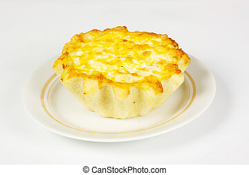 ndividual meat pie with potato topping. - ndividual meat pie...