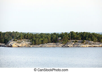 Lonely island in Sweden Archipelago - Lonely island in...