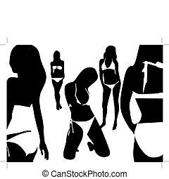Women in the swimsuit