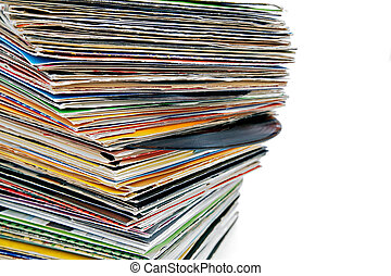 vinyl records - close up of old various vinyl records