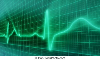 loopable background EKG electrocard - computer generated...
