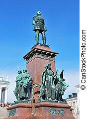 Helsinki, monument to Emperor Alexander II