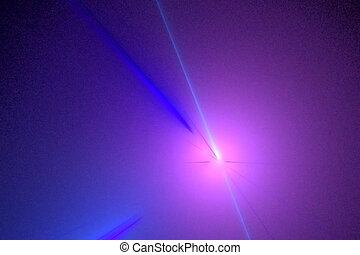 blue rays on violet, seamless loop animated fractal