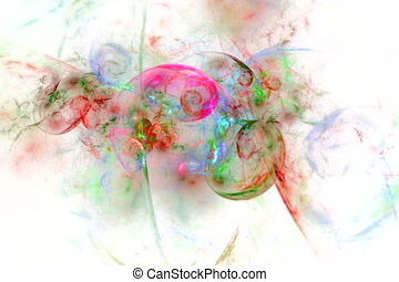 color spirals on white