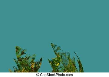 algae in undercurrent, seamless loop animated fractal