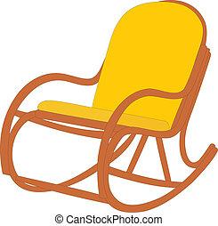 Easy chair. A convenient armchair