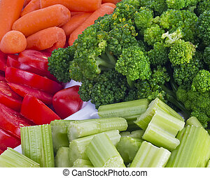Fresh Vegetable Tray - Close up of a fresh vegetable tray