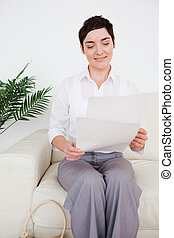 Businesswoman with a paper