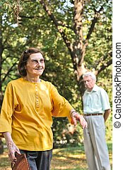 Vitality - senior woman outdoors