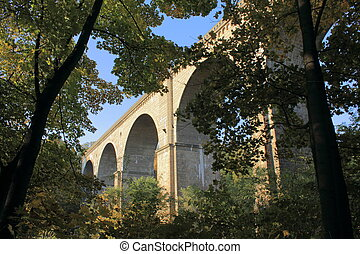 Viaduct over Neisse - Bridge for trains over river Neisse...