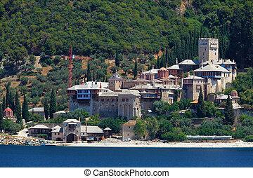 Dochiariou Monastery, Athos Peninsula, Mount Athos,...