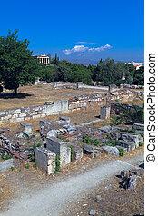Agora, acrópolis, atenas, grecia