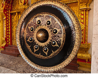 old gong in thai temple