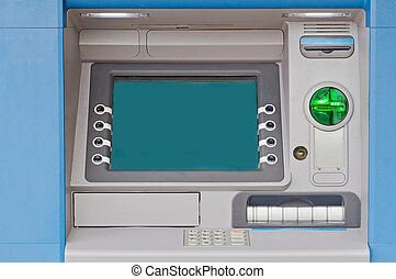 Cash Machine - Detailed view of cash machine during the...