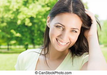 happiness beautiful woman