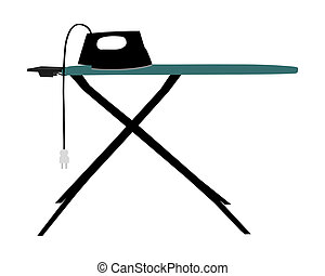 Ironing board and electric iron