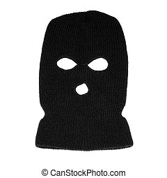 Balaclava mask - Black ski mask aka Balaclava isolated on...