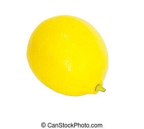 Lemon isolated on white background with copy space