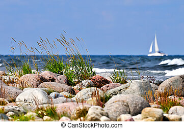 Breaking waves at the swedish coast - Breaking waves at the...