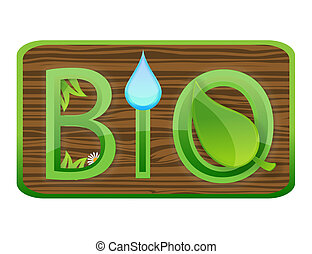 glass nature bio symbol green color
