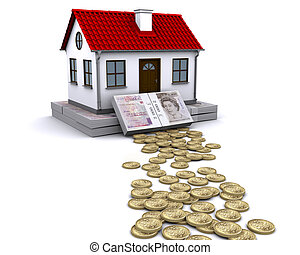 pound sterling money - a stable foundation for home