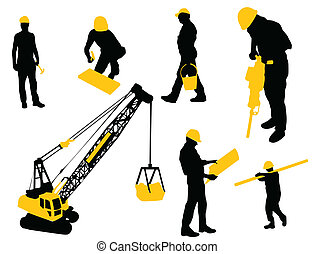 Under construction - Construction workers with tools