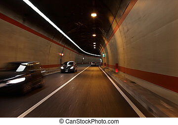 Tunnel and cars