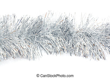 Photo of shiny tinsel background