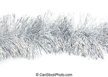 Photo of shiny tinsel background.