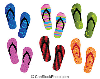 Summer - Different flip flops