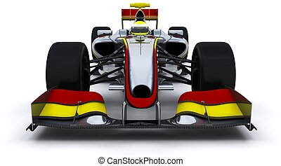 F1 Racing Car - 3D Render of a F1 Racing Car