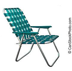 Garden Chair - Lawn garden chair isolated on white