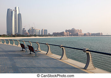Promenade in Abu Dhabi, United Arab Emirates. Photo taken at...