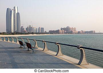 Promenade in Abu Dhabi, United Arab Emirates. Photo taken at...