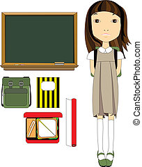 Back To School Student Pack - Illustration of classroom...