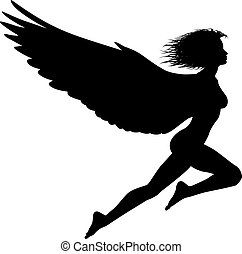 Flying woman