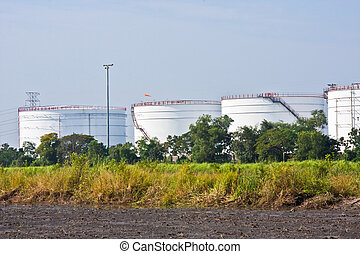 Oil storage tanks in Thailand