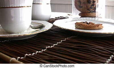 Coffee with  Chocolate chip cookies