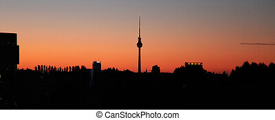Television Tower Berlin - a panoramic view at the tv tower...