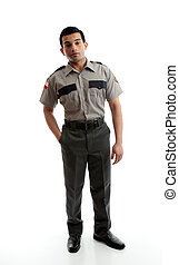 Male worker in uniform - A male worker wearing uniform is...
