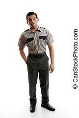 Male worker in uniform