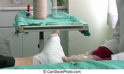 Injured Diabetic Foot