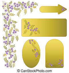 Vector ornament with flowers and leaves.