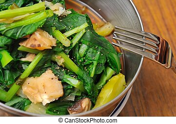 Simple mixed green vegetables - Healthy and simple Chiense...