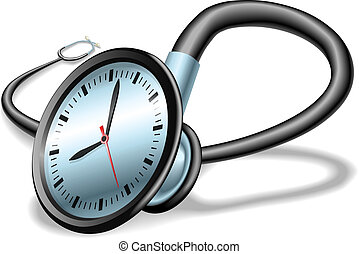 Medical time stethoscope concept - Medical time concept...