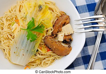 Simple and healthy Chinese yellow noodles