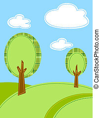 stylized trees vector background