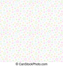 Seamless repeating light colorful flower fabric pattern
