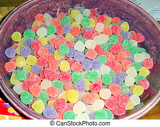 Jellybeans. - Jellybeans displayed in a bowl.